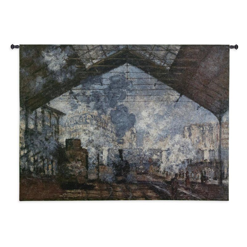 Fine Art Tapestries The Saint-Lazare Station Wall Tapestry - 3066-WH