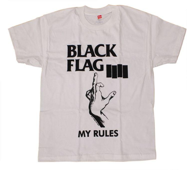 Black Flag My Rules T Shirt New T Shirt Design Black Flag Shirts
