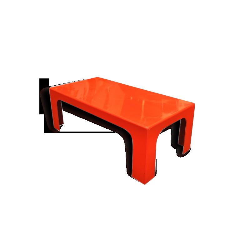 Table basse marc berthier ann es 70 verre et cristal for Table basse tele