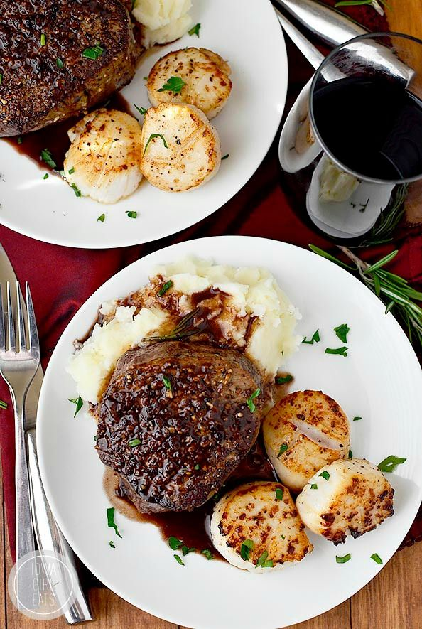 Surf and turf for two sometimes you just can 39 t mess with for Gourmet dinner menu ideas