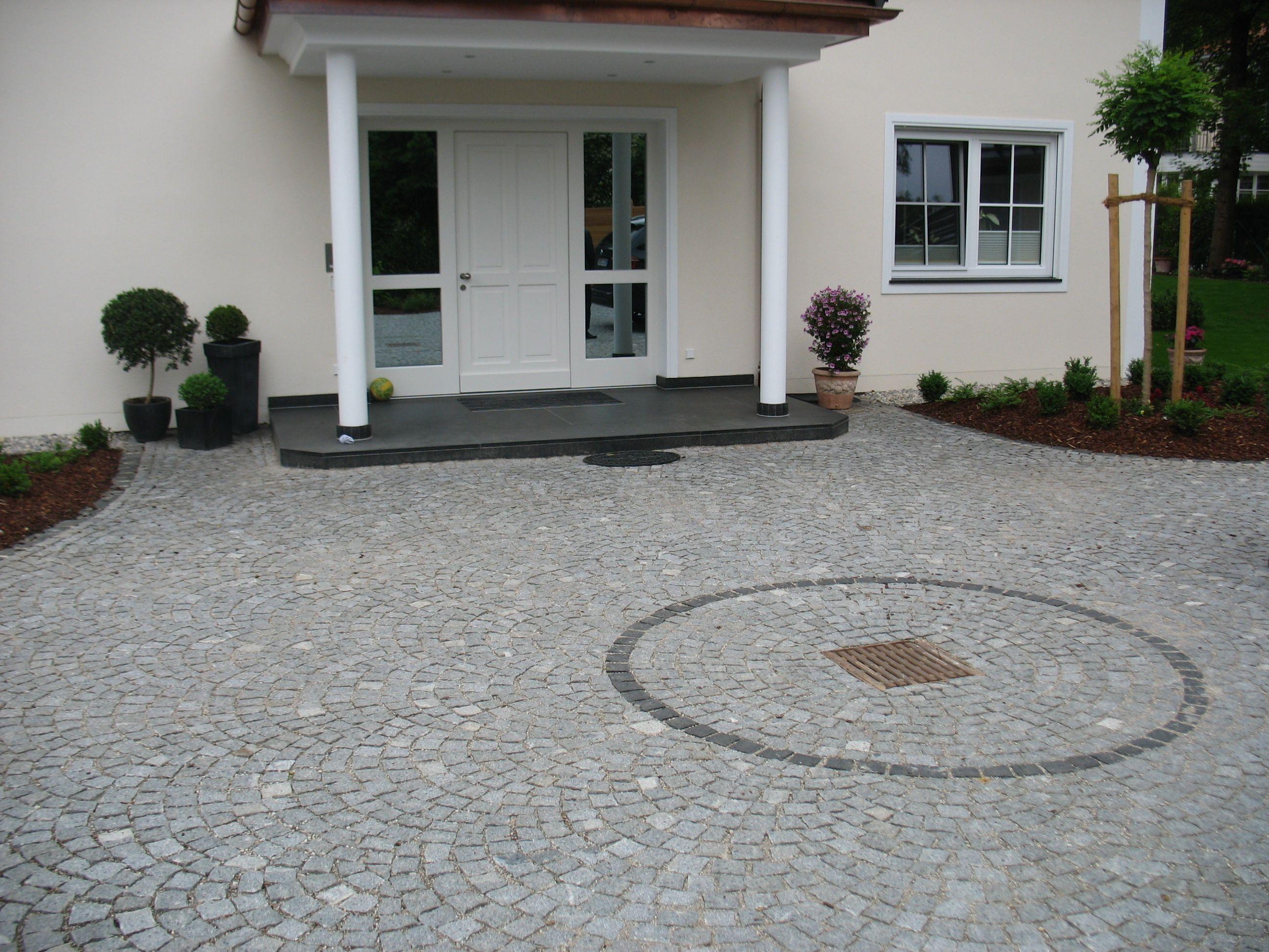 Hauseingang Eingangspodest Natursteine Kunststein