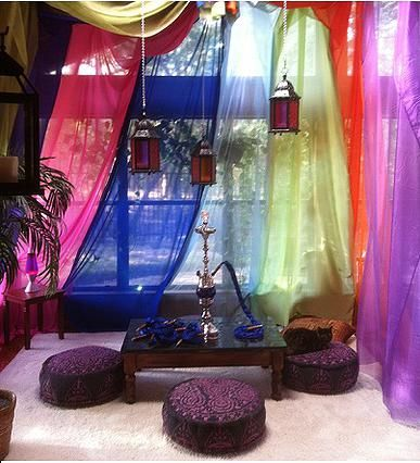 Hookah room set up for a themed party the cat seemed - Living room hookah lounge la jolla ...