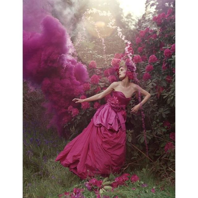tim walker, story teller - stella tennant and pink pouder cloud