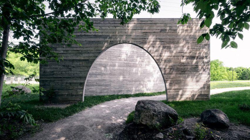 Luca Fortin Constructs Concrete Passageway For Quebec City Park In 2020 Park City Quebec City Linear Park