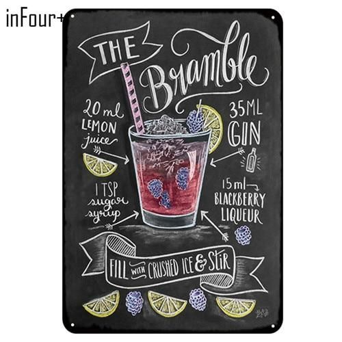 [inFour+] New CUBA LIBRE Cocktail Metal Signs Home Decor Vintage Tin Signs Pub Home Decorative Plates Metal Sign Wall Plaques #cubalibre