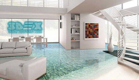Simple 3D Epoxy Flooring For Villas