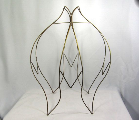 Superb Lamp Shade Wire Frame For Floor Lamps Huge Old Tulip By JudisLamps