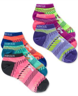 6b5dc66137eaa Under Armour Women's Essential Pattern No Show Socks 6 Pack ...