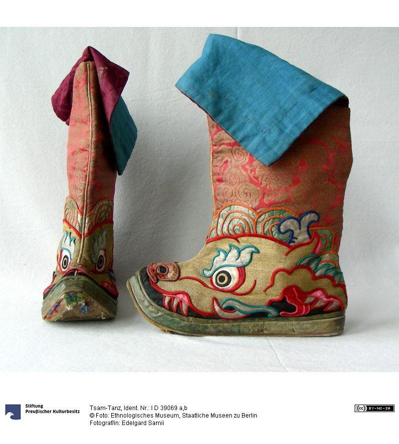 tsam tanz tibetan boots gwond pinterest sch ne. Black Bedroom Furniture Sets. Home Design Ideas
