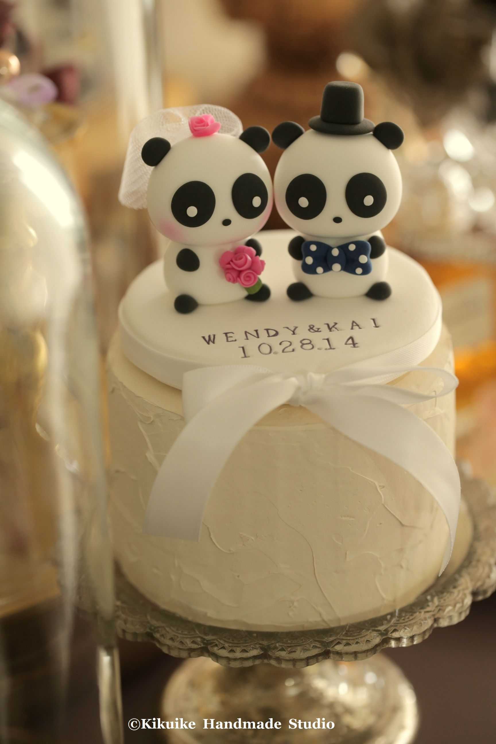 Panda Wedding Cake Topper Wedding fever Pinterest