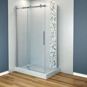 Superieur MAAX Halo 48 In. X 36 In. Corner Shower Enclosure Tempered Glass In Chrome