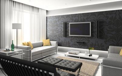 Strak modern interieur met een sterke zwart wit combinatie | Black ...