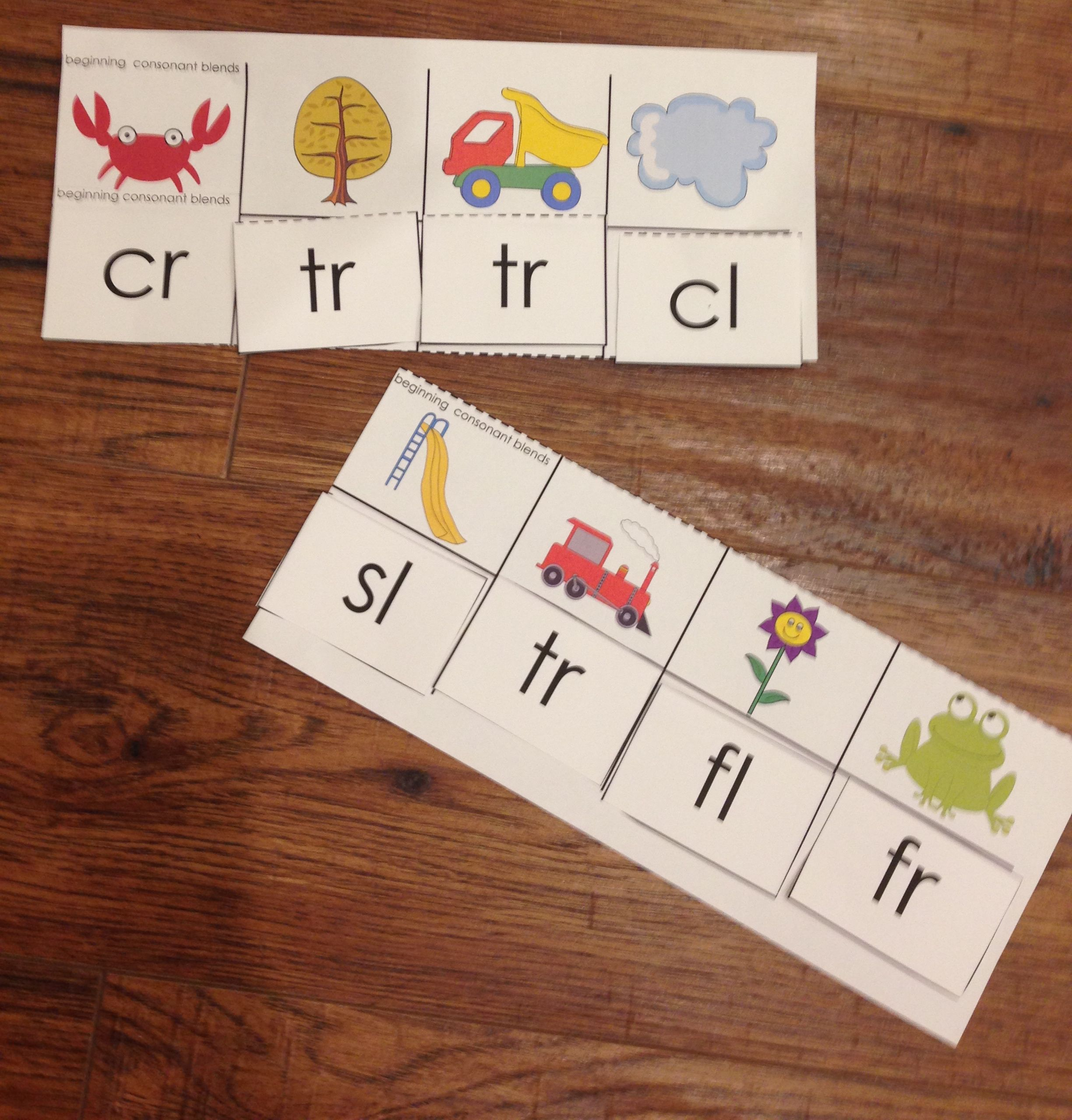 K 2 Phonics Center Beginning Blends Digraphs And Final