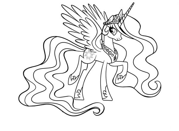 My Little Pony Princess Celestia Coloring Page Coloring Sky In 2020 My Little Pony Coloring My Little Pony Printable Princess Coloring Pages