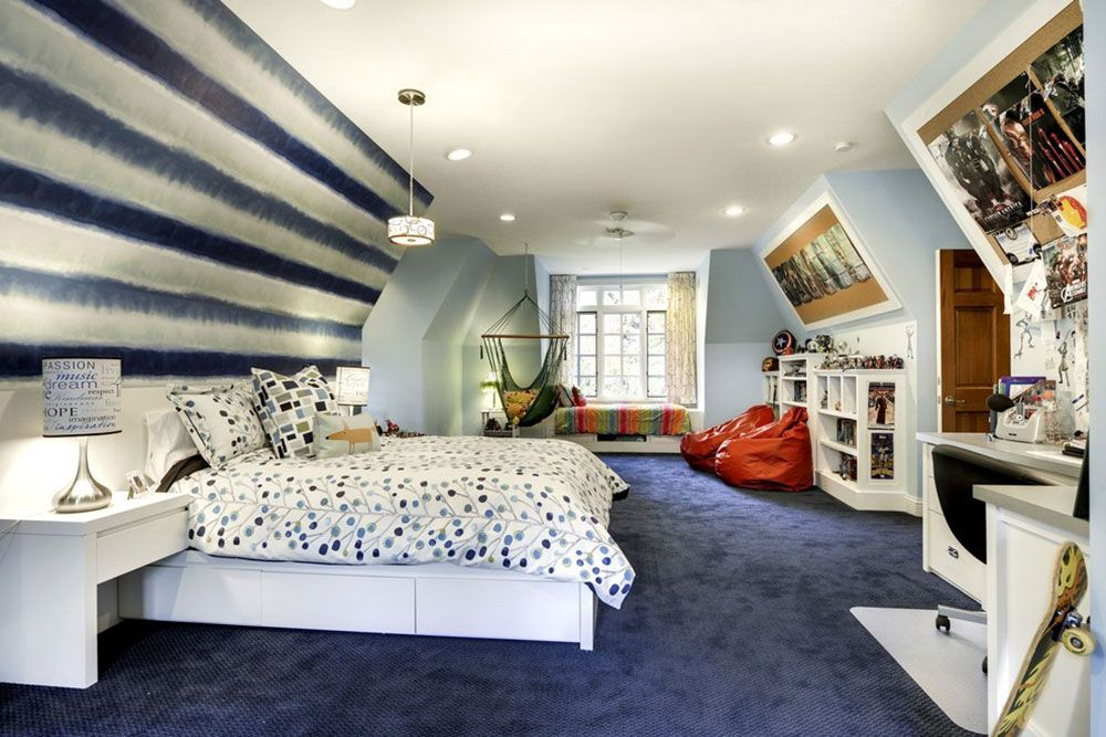 Good Cool And Cozy Boys Room Paint Ideas8