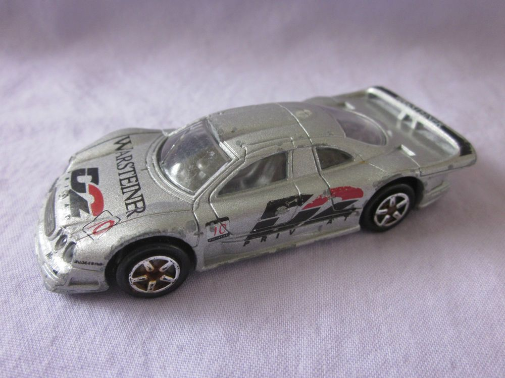 Vintage Car Model - Vintage Majorette Mercedes CLK GTR Warsteiner sports car model / toy