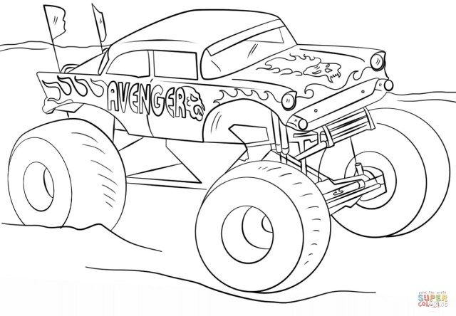 Inspiration Picture Of Monster Jam Coloring Pages Albanysinsanity Com Monster Truck Coloring Pages Truck Coloring Pages Coloring Pages