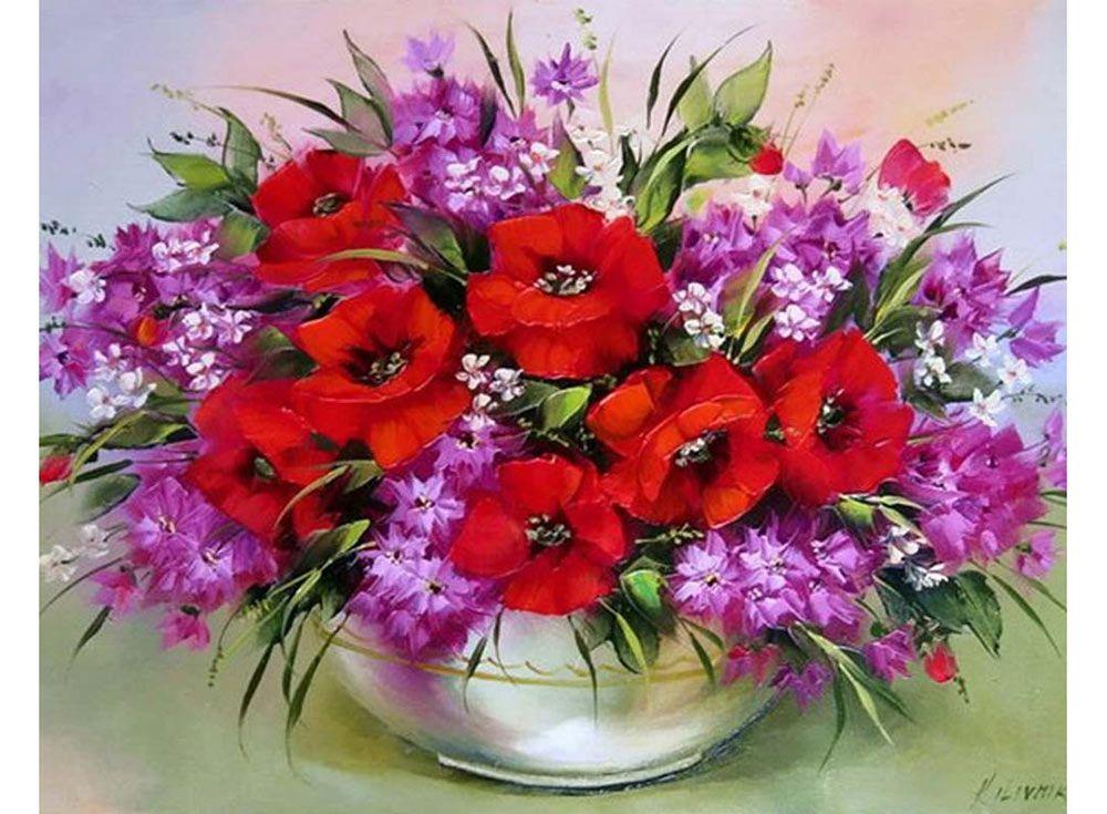 Картина по номерам «Маки и лютики» | Цветы и натюрморты ...