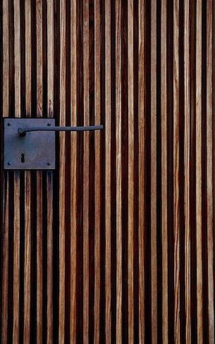 Slatted wood door | A_Doors & Windows_Contemporary | Pinterest ...