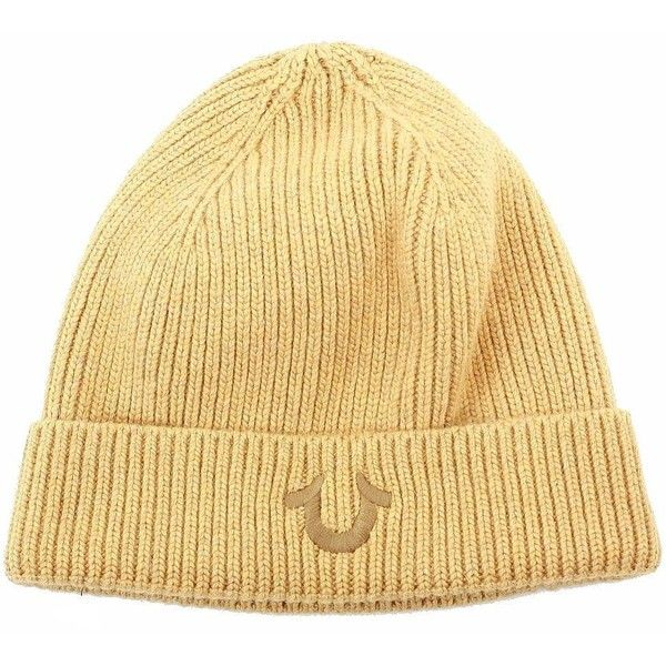 True Religion Men's Ribbed-Knit Watch Cap ($29) ❤ liked on Polyvore featuring men's fashion, men's accessories, men's hats, mens ski hats and mens hats