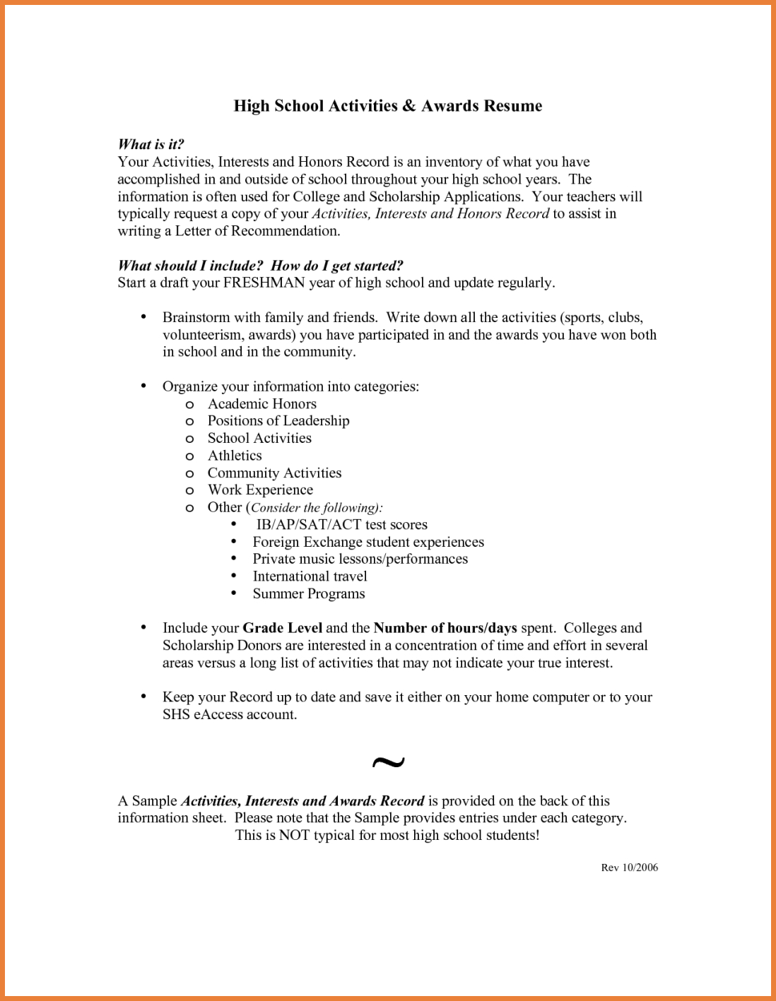 Sample High School Resume For College Application Ivr Tester Cover