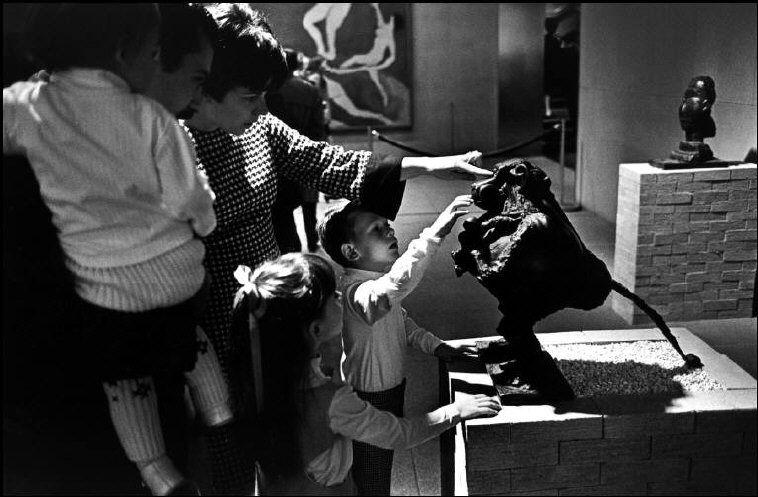 Rene Burri USA. New York City. Exhibition of Pablo PICASSO's work. MOMA. 1967.