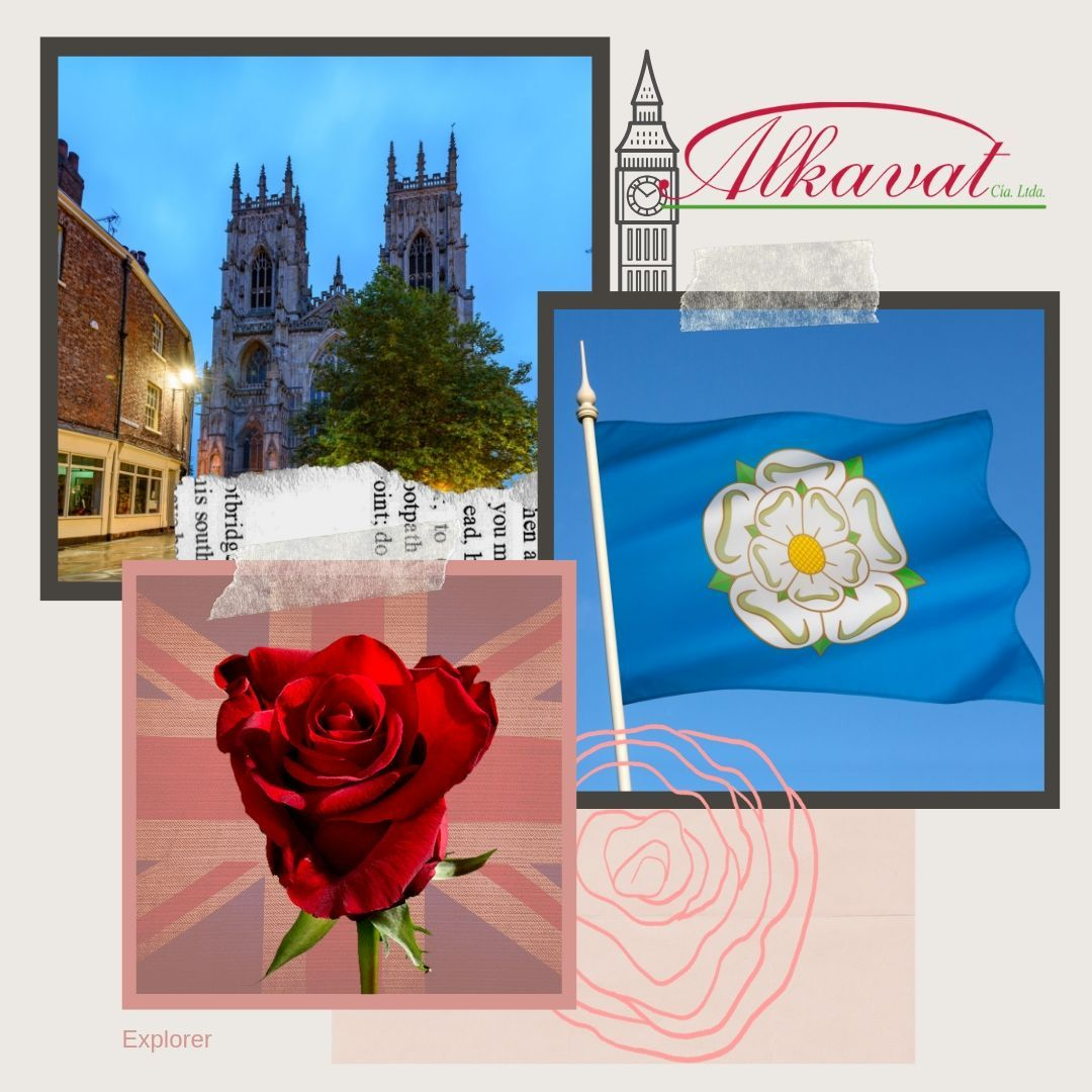 The rose is the national flower of England. This symbol