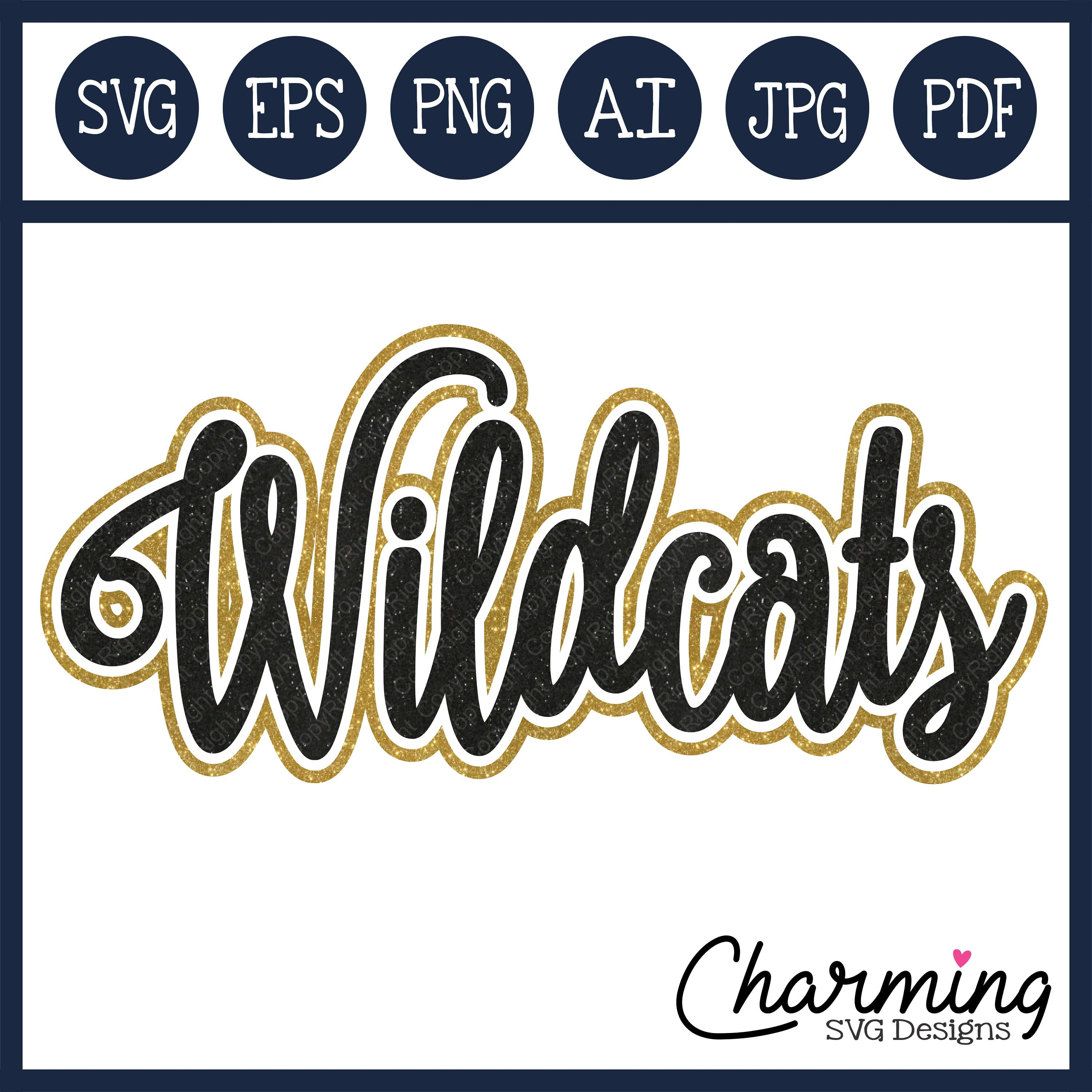 4a3652b3 SVG, Wildcats SVG, Wildcats Cut File, Wildcats Vector Designs, Wildcats  eps, silhouette cameo cut files, cricut cut files by CharmingSVGDesigns on  Etsy