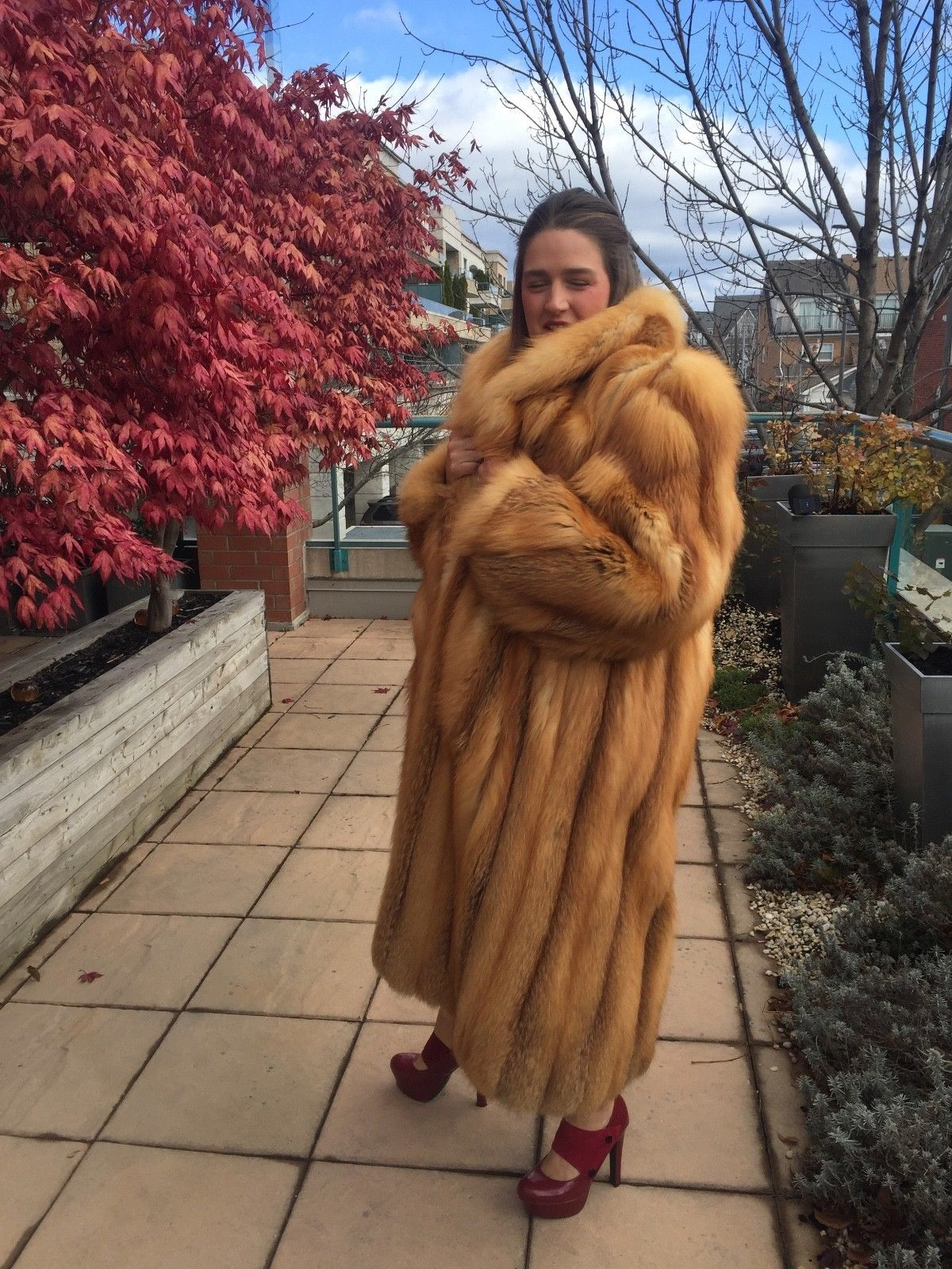9f45196def NEW - Full Length Red Fox Fur Coat | Clothing, Shoes & Accessories, Women's  Clothing, Coats & Jackets | eBay!