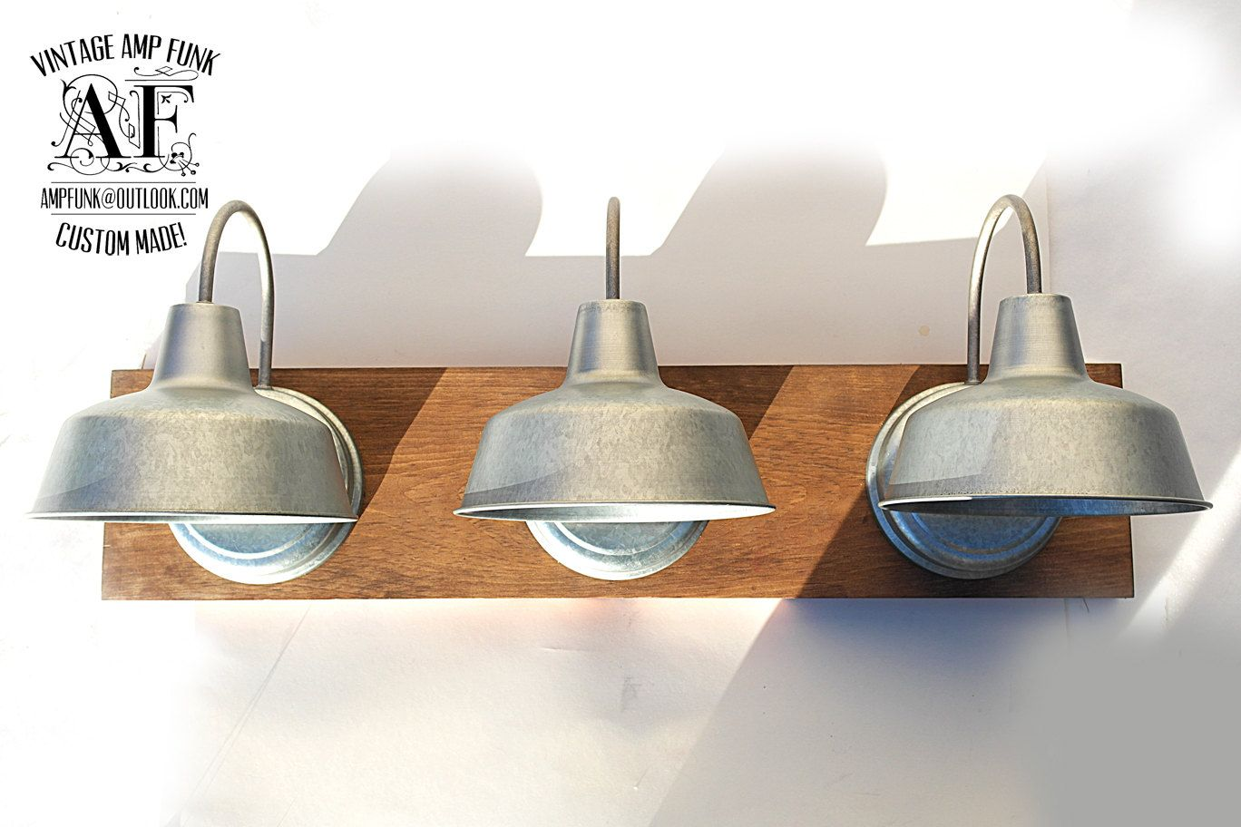 industrial bath lighting. Industrial Galvanized Steel Lights Bathroom By VintageAmpFunk Bath Lighting A
