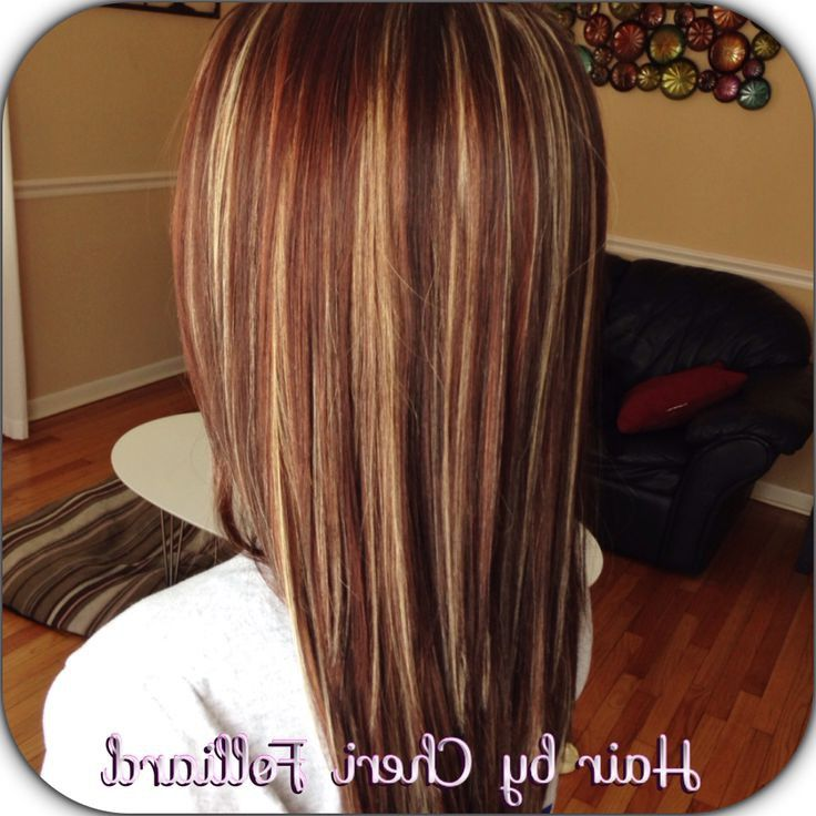 Caramel And Red Highlights In Dark Brown Hair Google Search