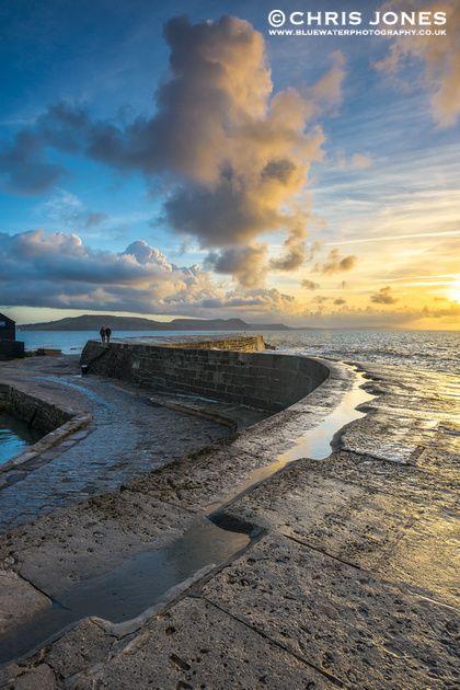 Early Morning Walk On The Cobb, Lyme Regis, Dorset