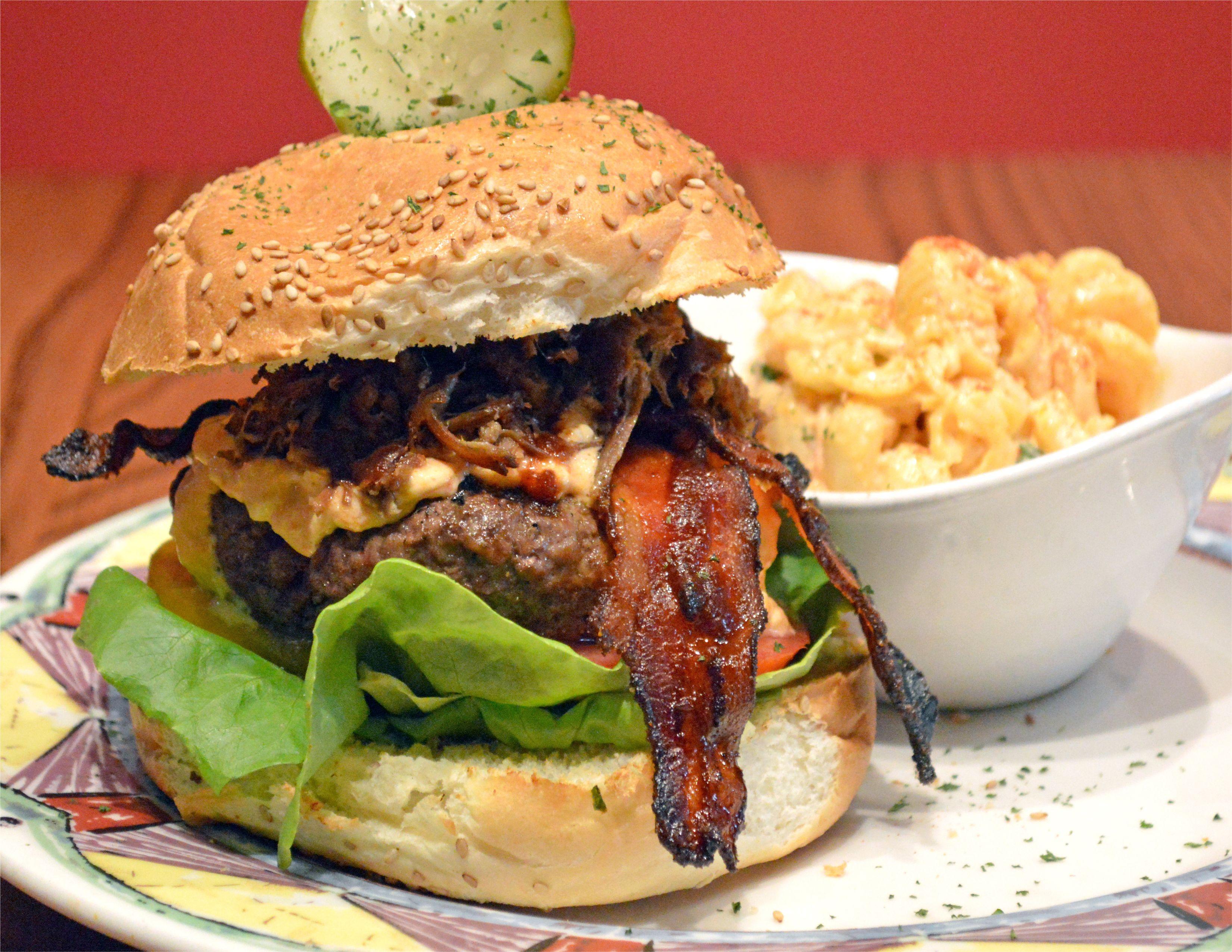 BOOM BURGER 8 oz. Burger with a mix of local Roseda Farm