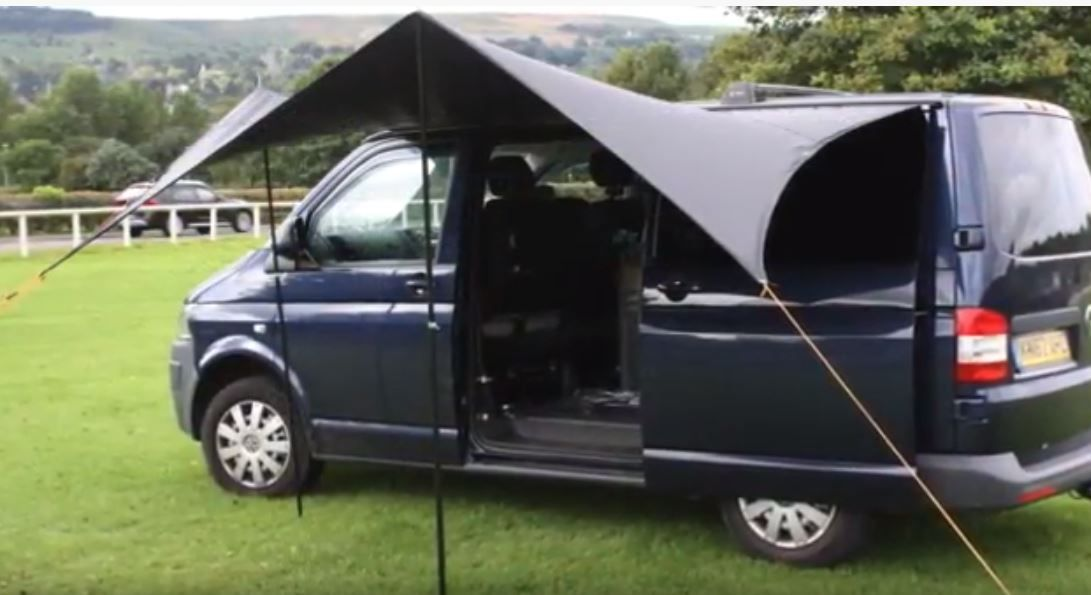 Kiravans Railsail Campervan Awning (for Left Side of Van ...