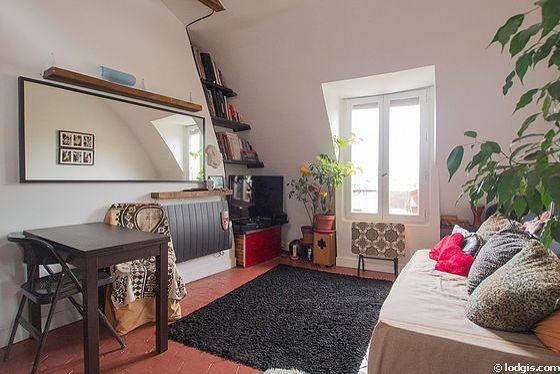 Paris Studio T1 logement location appartement - plan schématique (PA