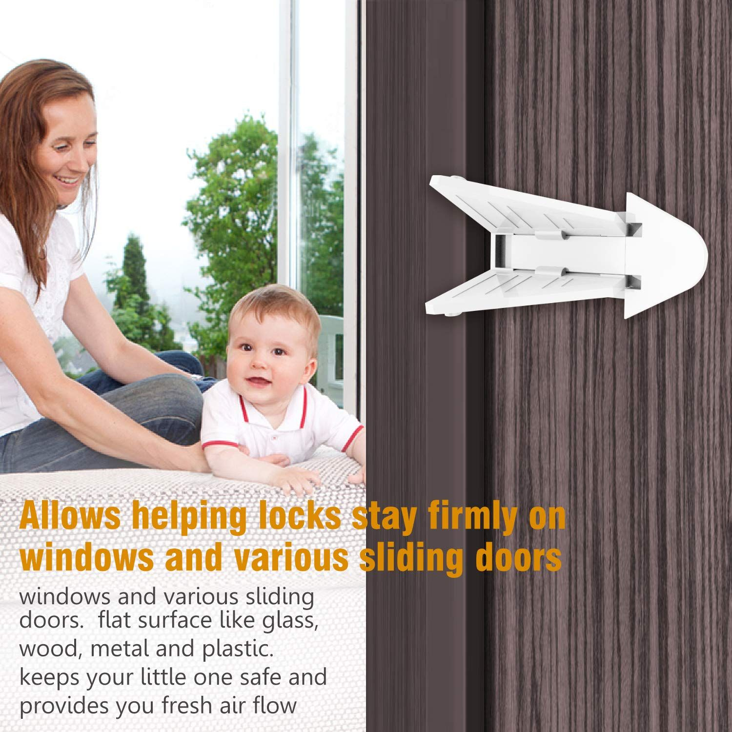 Miterl Baby Sliding Window Locks Sliding Door Locks For Baby Proofing Baby Pet Dogs Cats Safety Sliding Closet In 2020 Sliding Window Lock Sliding Doors Baby Proofing