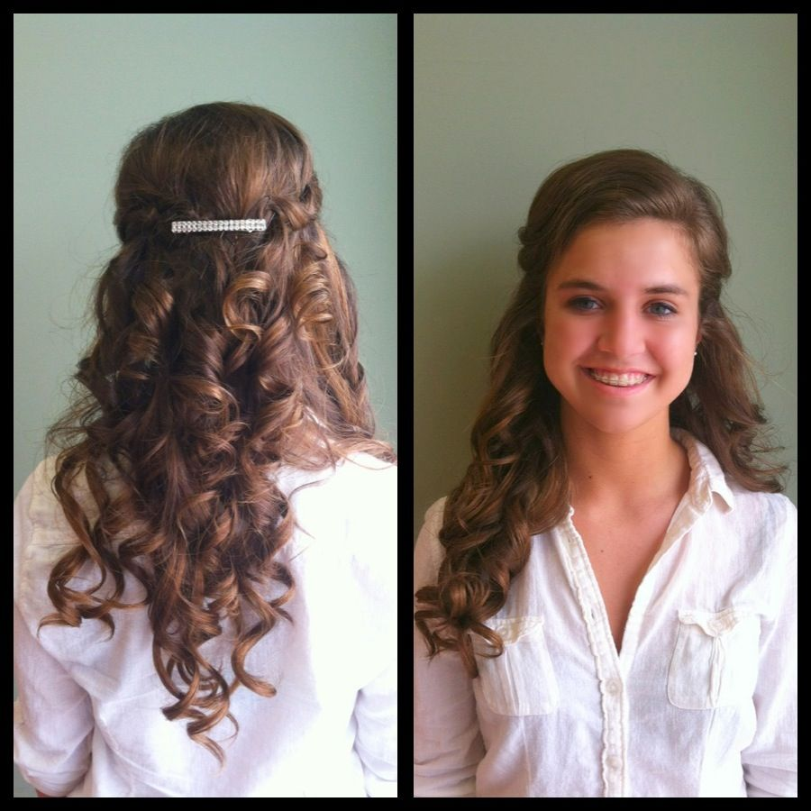 Prom curls great for strapless dresses (updo) or wedding hairstyle ...