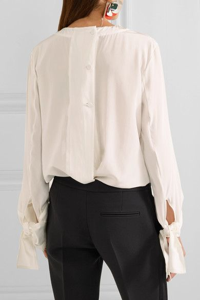 Marni Crepe Blouse Chine Silk IvoryProducts Pinterest De fgyb6Y7
