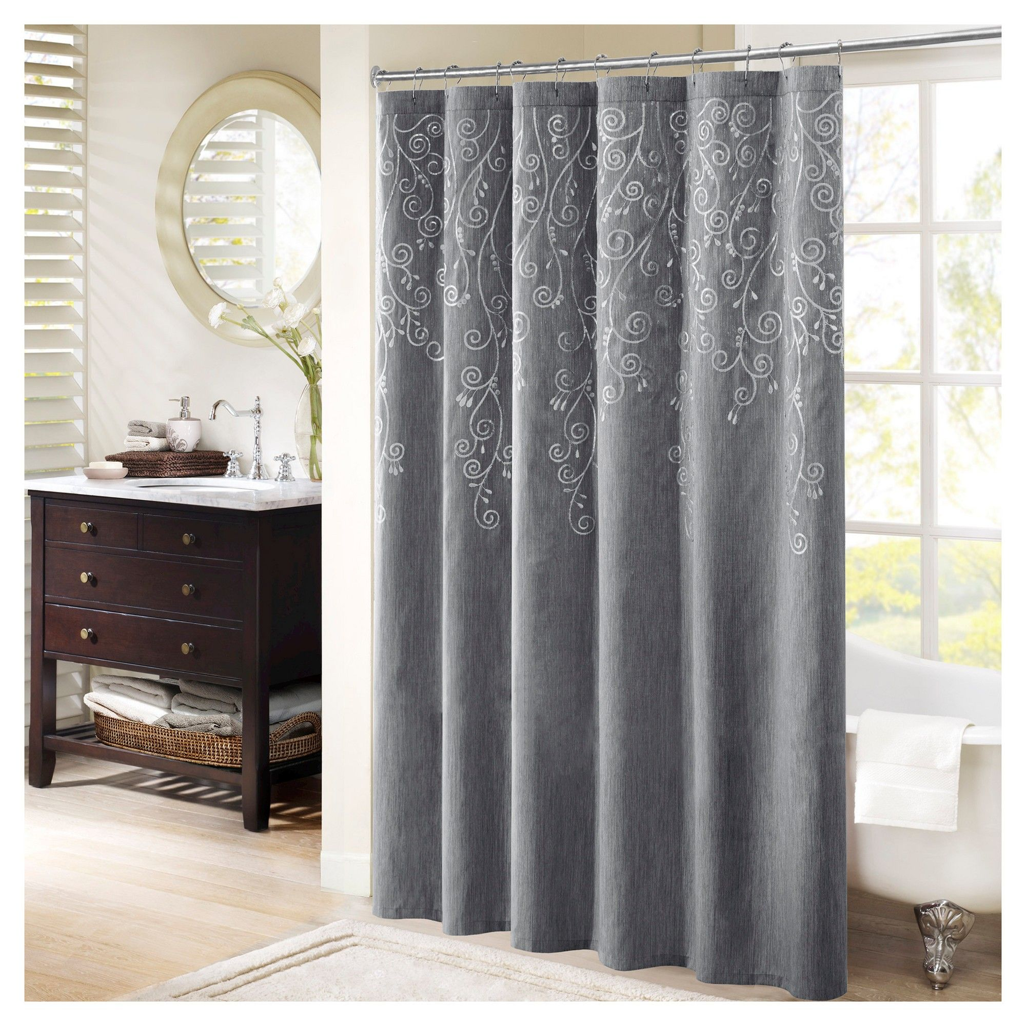 Shower Curtain Gray X Products