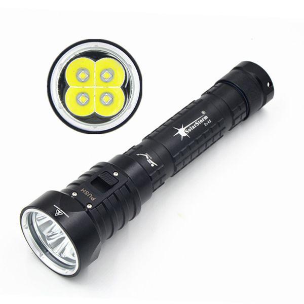 Solarstorm DX4S 4 X L2 U2 3200LM Diving LED Taschenlampe 60M