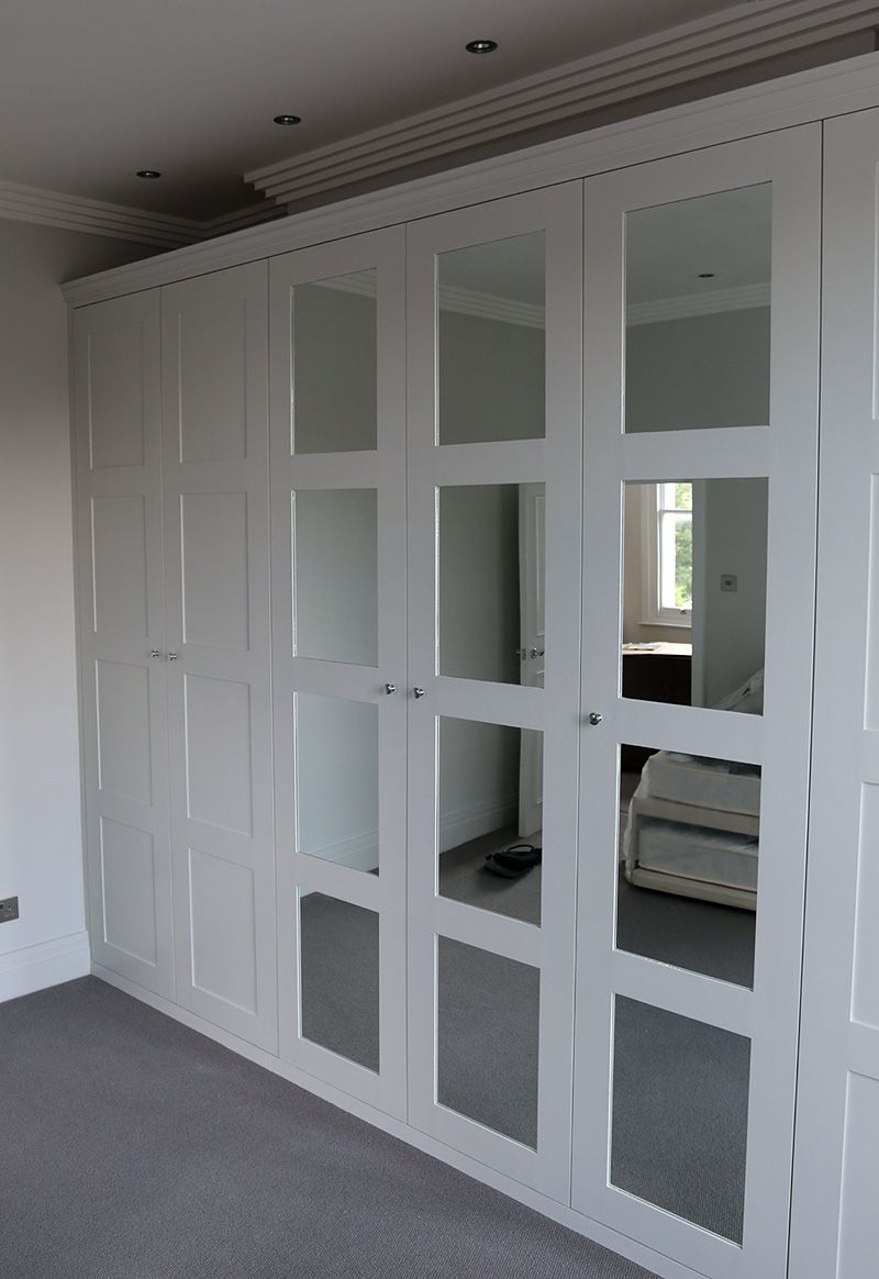 Fitted Wardrobe With Shaker Mirror Doors Előszoba