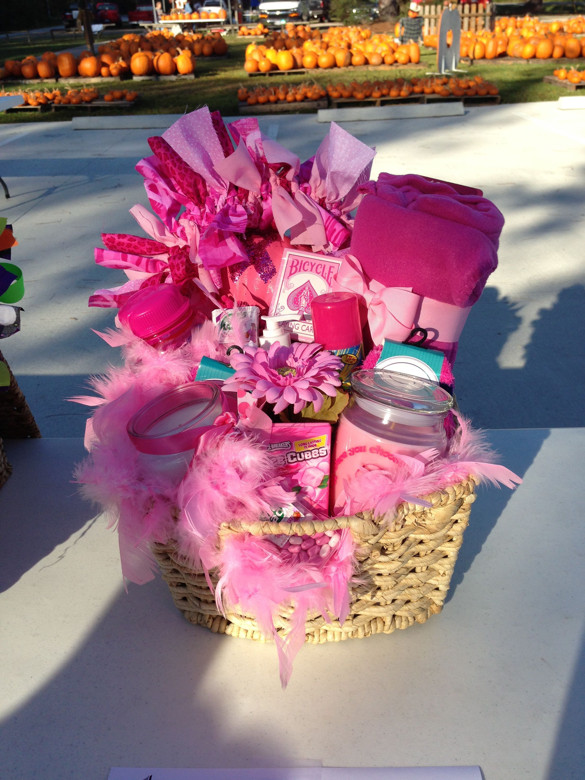 Think Pink Gift Basket For Silent Auction With Images Diy