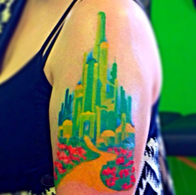 emerald city watercolor tattoo watercolor tattoos by