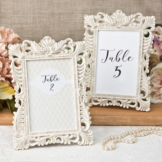 Ivory And Gold Picture Frames For Table Numbers 4 X 6 Size Wedding Frames Wedding Picture Frames Wedding Table Numbers