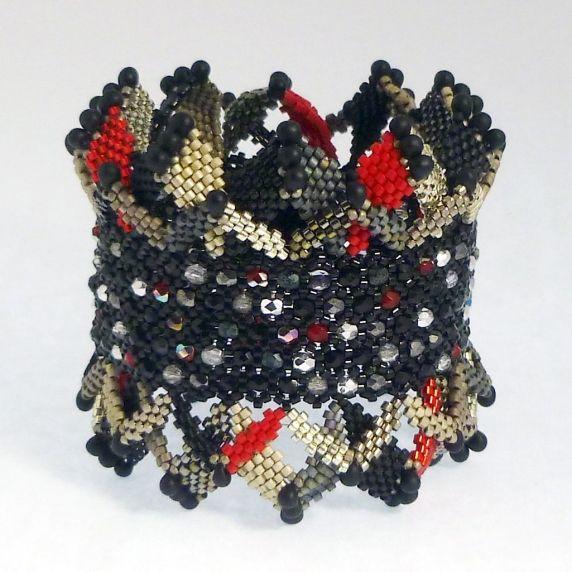 TUTORIAL Ric Rac Honeycomb Bracelet | Mikki Ferrugiaro Designs