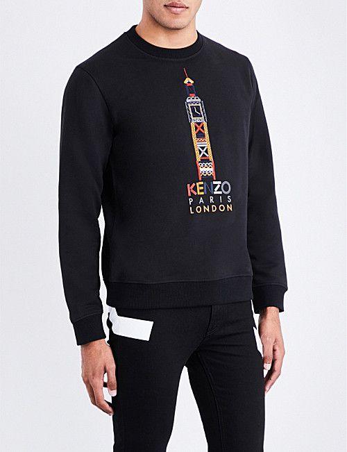 393fec68 KENZO Big Ben cotton-jersey sweatshirt | Sweatshirt & Hoodies ...