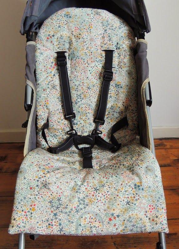 Miel th couture liberty pour une assise de poussette et sa couverture cover and sat of baby - Matelas poussette maclaren ...