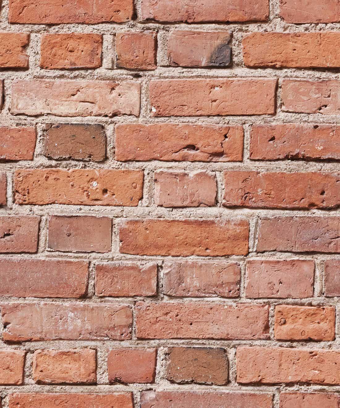 Classic Red Bricks Wallpaper Industrial Allure Of Brick Milton King In 2021 Brick Wallpaper Red Brick Wallpaper White Brick Wallpaper