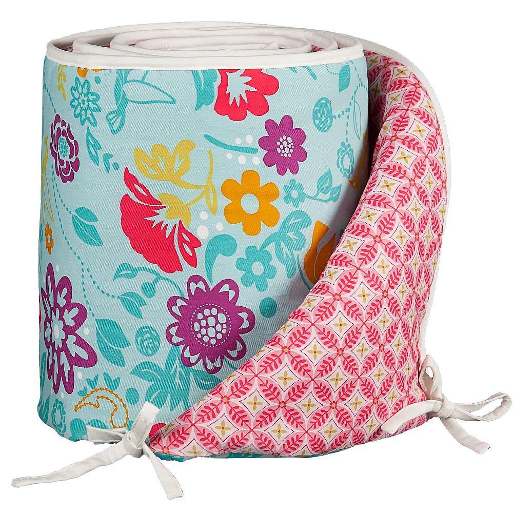 Crib bumpers babies r us - If It S Girl Living Textiles Lolli Living Poppy Seed Crib Bumper Whimsy Multi Living Textiles Babies R Us