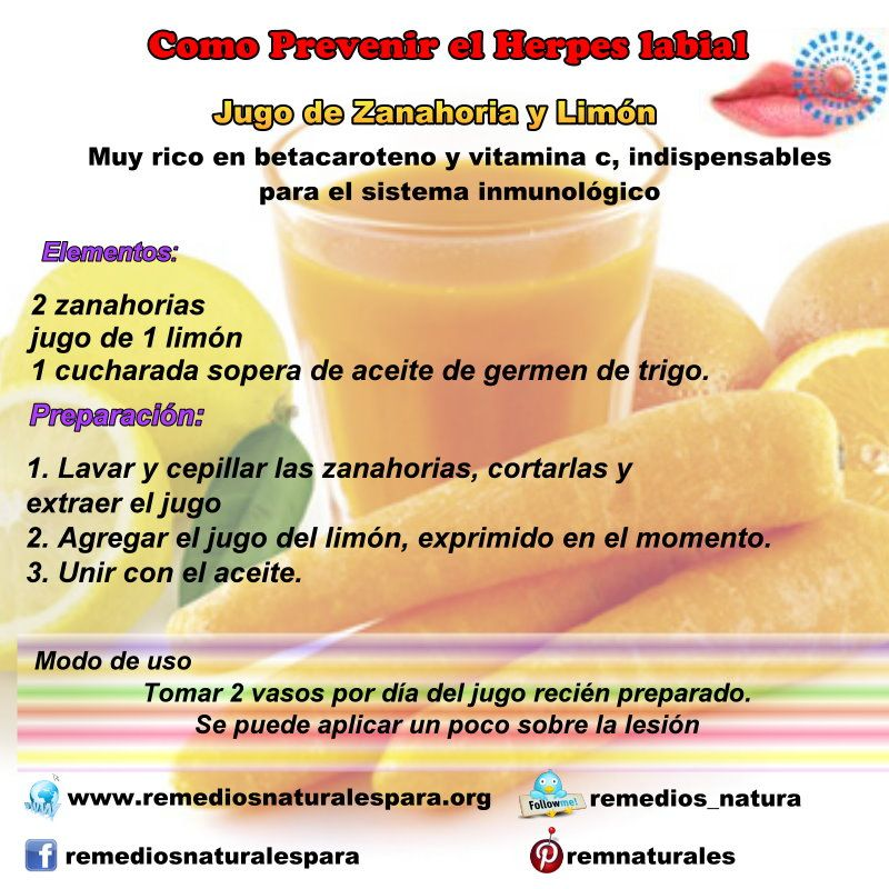 herpes bucal remedios naturales